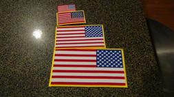 Embroidered American flag patches Choose small medium large