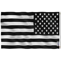 Anley Fly Breeze 3x5 Foot Black and White American Flag - Vi