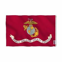 Anley Fly Breeze 3x5 Foot US Marines Corps Flag - Vivid Colo