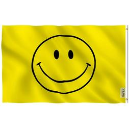 Anley Fly Breeze 3x5 Foot Yellow Smiley Face Flag - Happy Fa