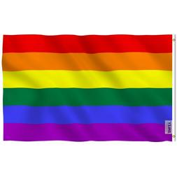 Anley Fly Breeze 4x6 Ft Rainbow Flag Gay Pride Banner Flags