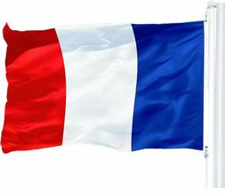 France French Flag 3x5 ft Printed with Brass Grommets on 150