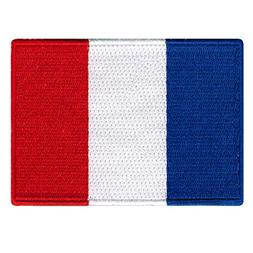 FRENCH FLAG embroidered iron-on PATCH FRANCE EMBLEM new APPL