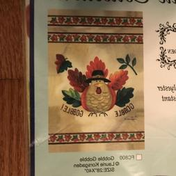 Artistic Collectibles Gobble Gobble Turkey All Weather Flag
