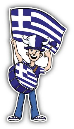 Greece Flag Sport Fan Car Bumper Sticker Decal ''SIZES''