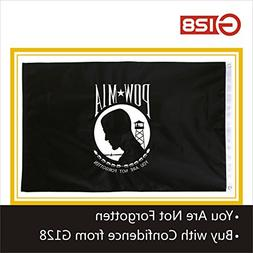 G128 - POW MIA Black Flag You Are Not Forgotten Prisoner of