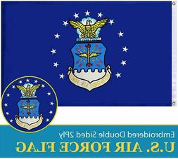 G128 - US Air Force Flag Double Sided Embroidered 3x5 ft Fla
