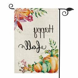 Happy Fall Garden Flag Vertical Double Sided Pumpkins Outdoo