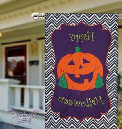 Happy Halloween house flag double sided Evergreen applique 2