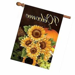 ALAZA Home Decorative Outdoor Double Sided Welcome Sunflower