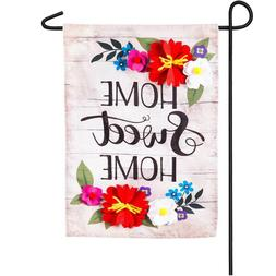Evergreen Home Swwet Home Double Sided Applique Garden Flag