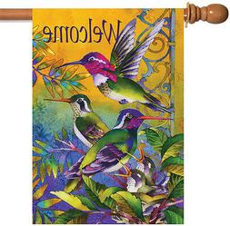 Toland Home Garden Hummingbird Home 28 x 40 Inch Decorative