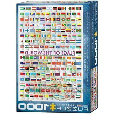 1000 Flags of Puzzles Jigsaw Thousand