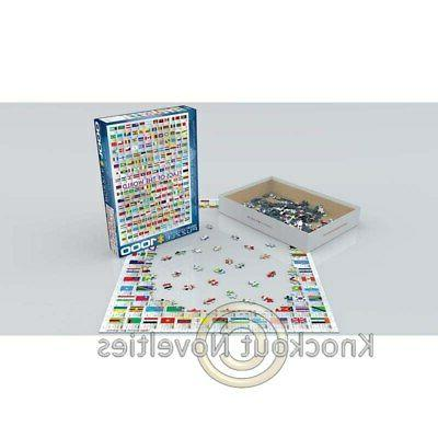 1000 Flags Puzzles Jigsaw Thousand