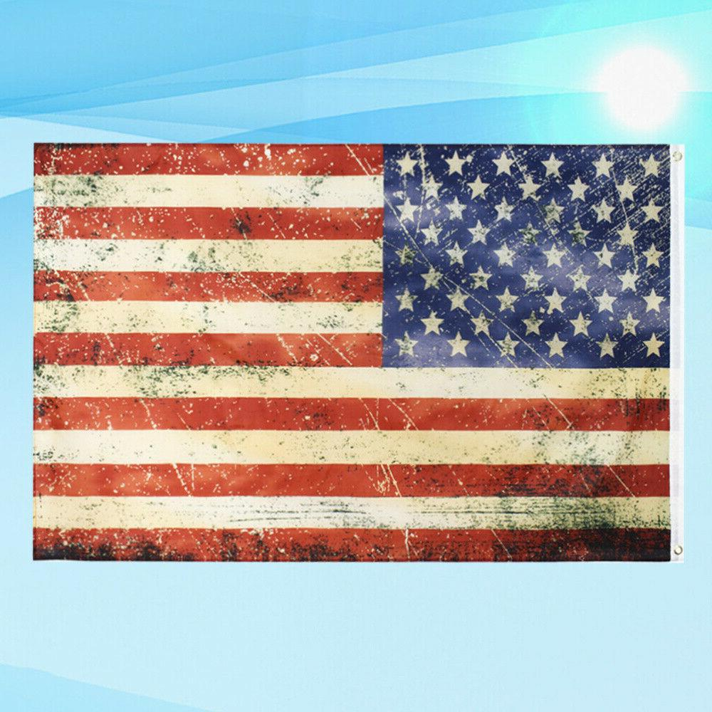 1Pc American Flag Home Decor Flag Holiday Flag Vertical Banner
