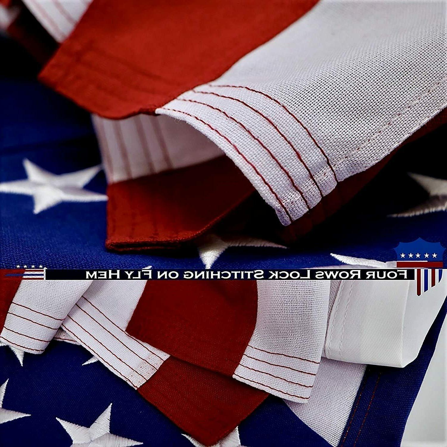 2.5x4 ft USA Embroidered Stripes