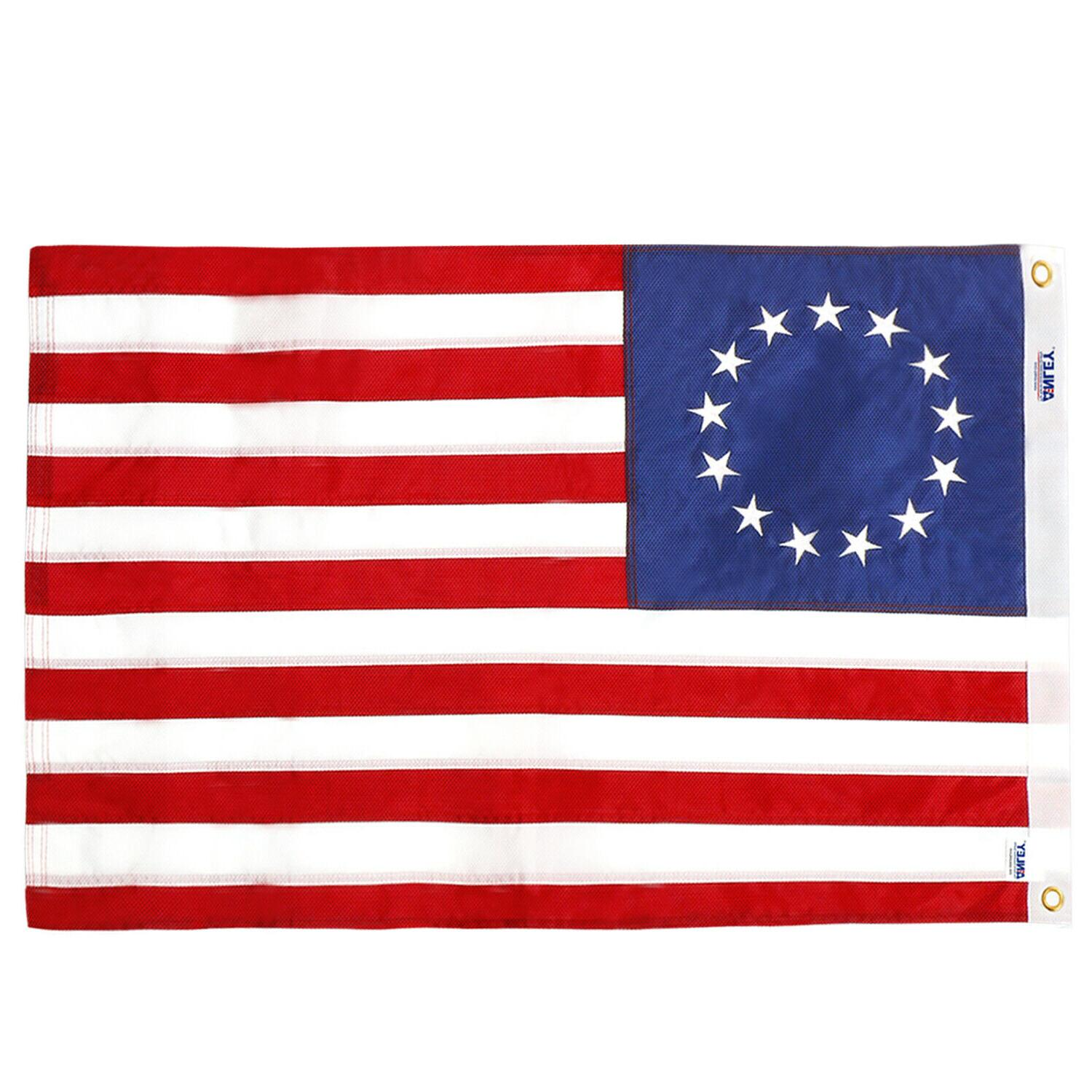 2x3 feet embroidery american betsy ross flag