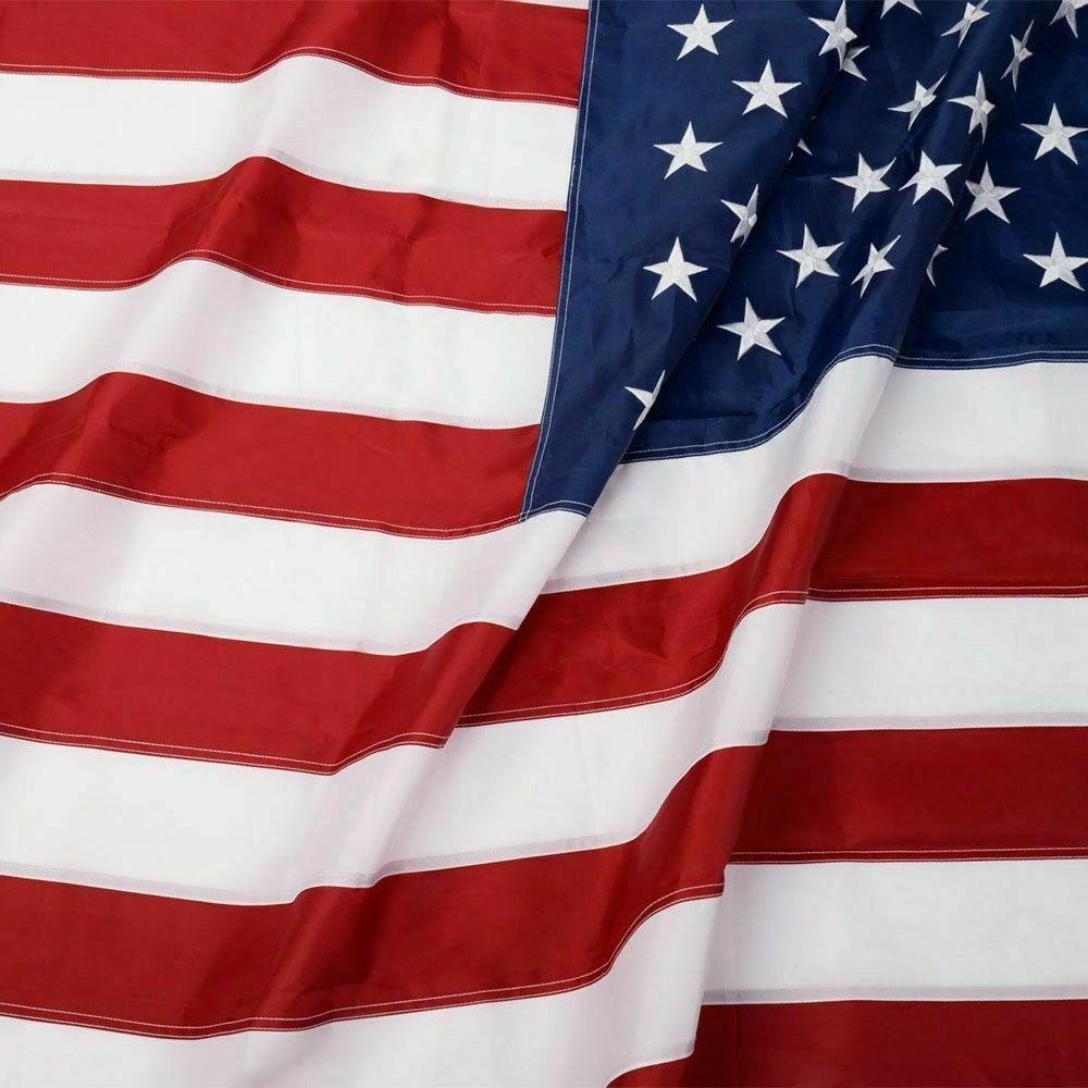 3'x5' ft American Flag Sewn Embroidered Brass Grommets USA U.S.