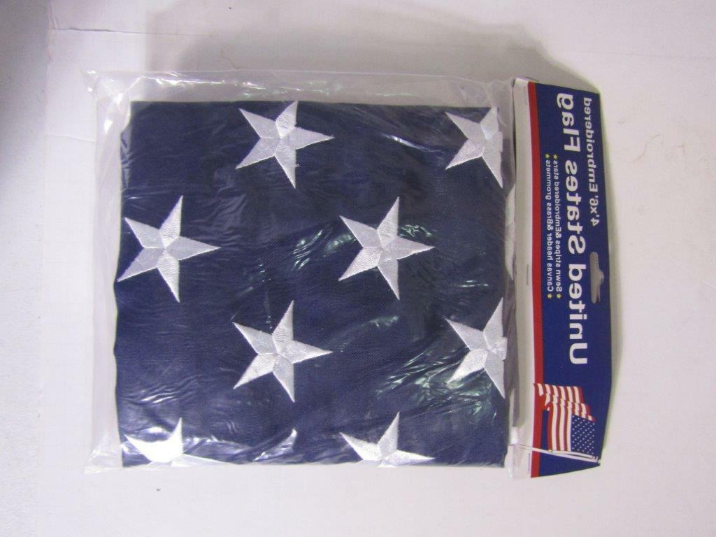 4x6 Embroidered American 600D 4'x6'