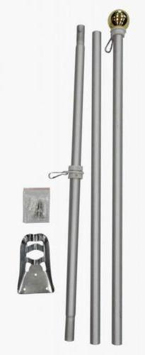 6 Foot Aluminum Silver Pole with  Free Shipping