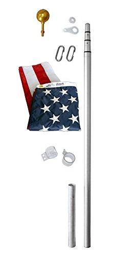 Annin Flagmakers American Flag and Flagpole Set - 21 ft. 4 S