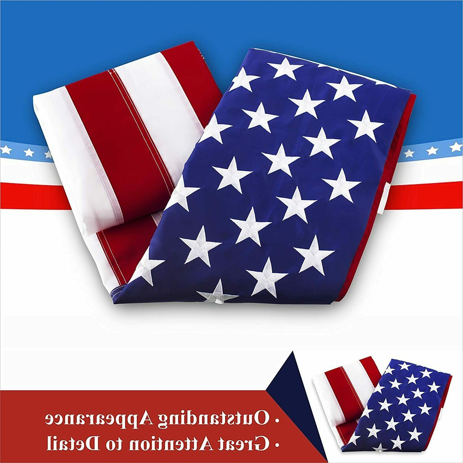 American USA 4x6 ft Deluxe Stars Grommets