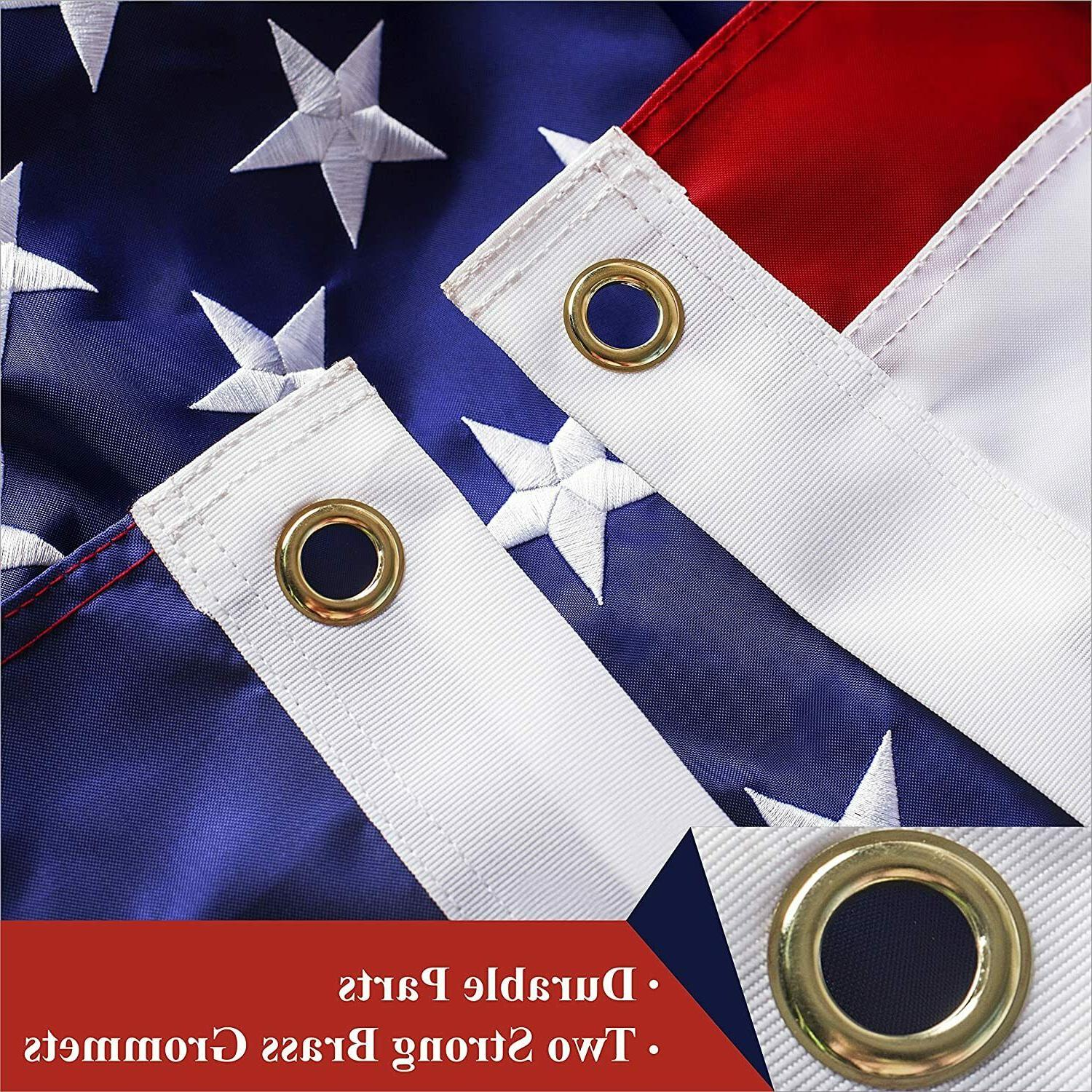 American US 4x6 Deluxe Embroidered Stars Grommets