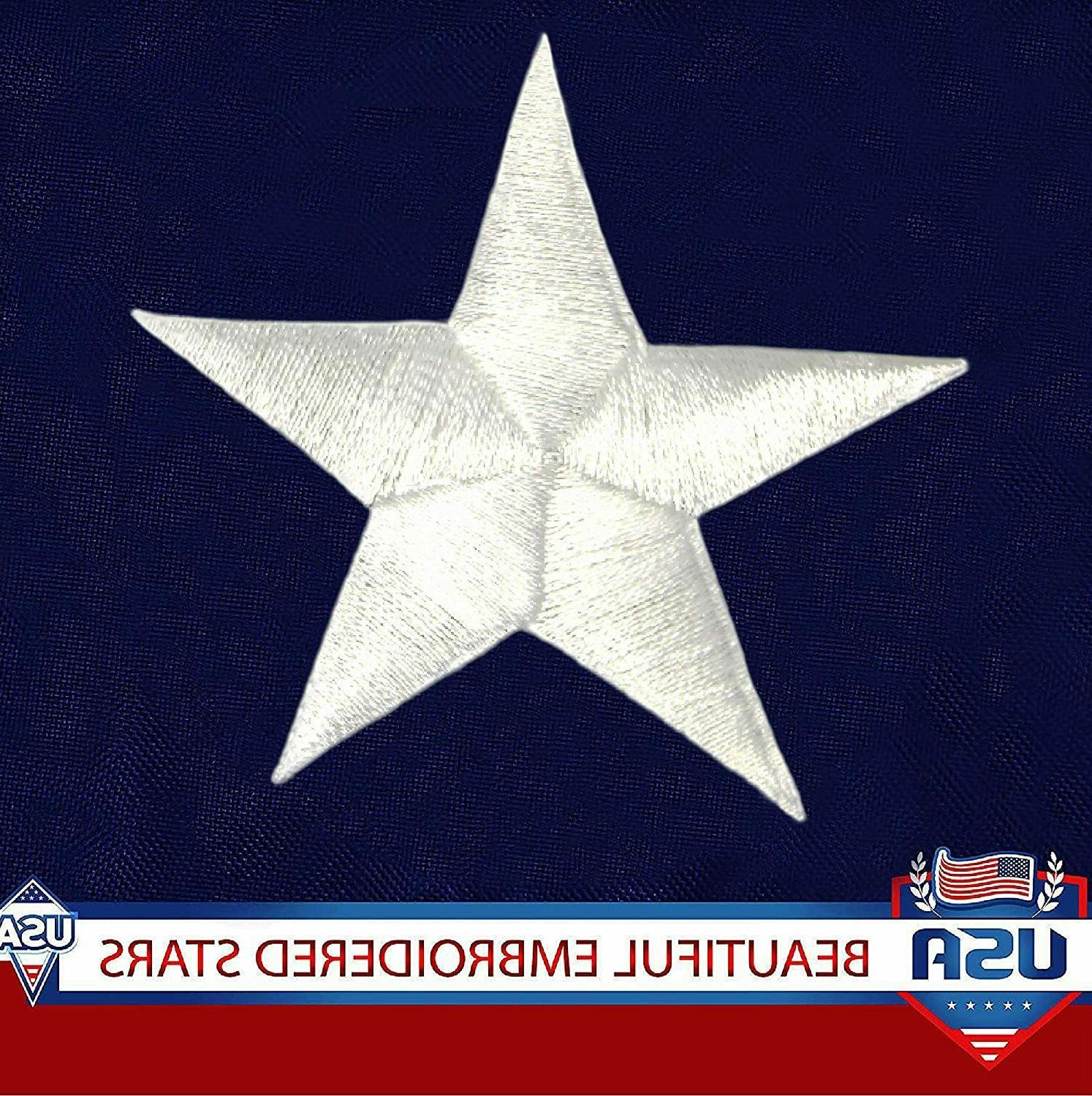 American 4x6 Embroidered Stars Grommets