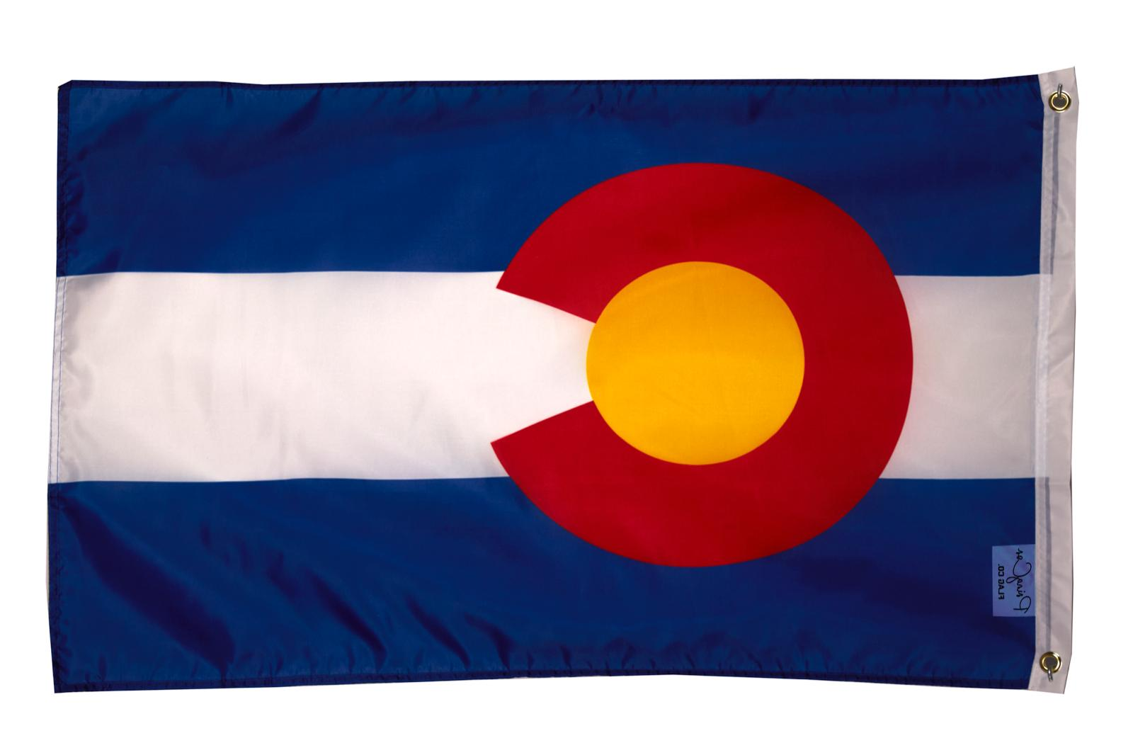 colorado flag 2x3ft polyester banner state of