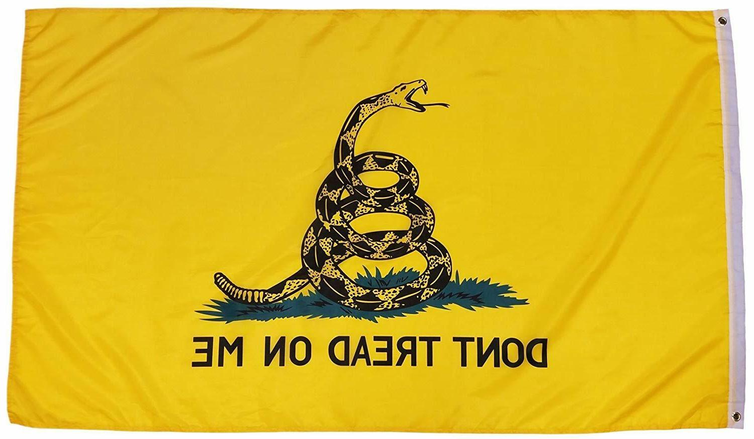 Don't on Me 3x5FT Flag Banner Gadsden Tea Party Patriot Conservative USA