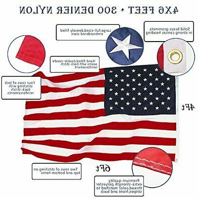 EverStrong US Flag 4x6 Foot Heavy Star