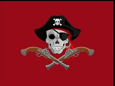 flag 3x5 red color cool jolly roger