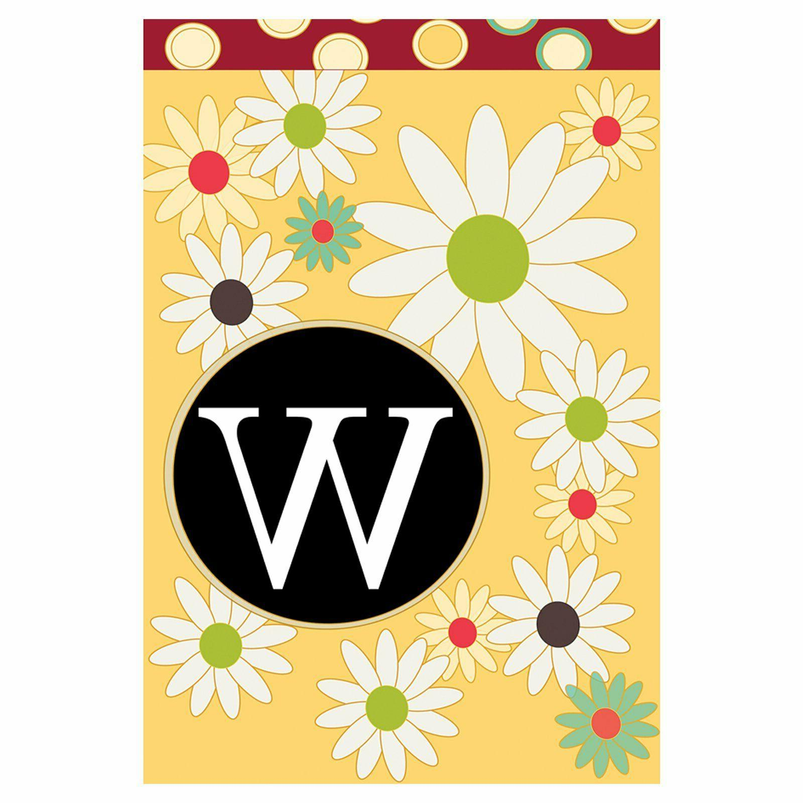 floral monogram 28 x 40 inch house