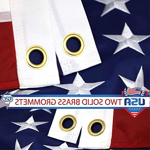 G128 US Embroidered Brass Grommets Oxford