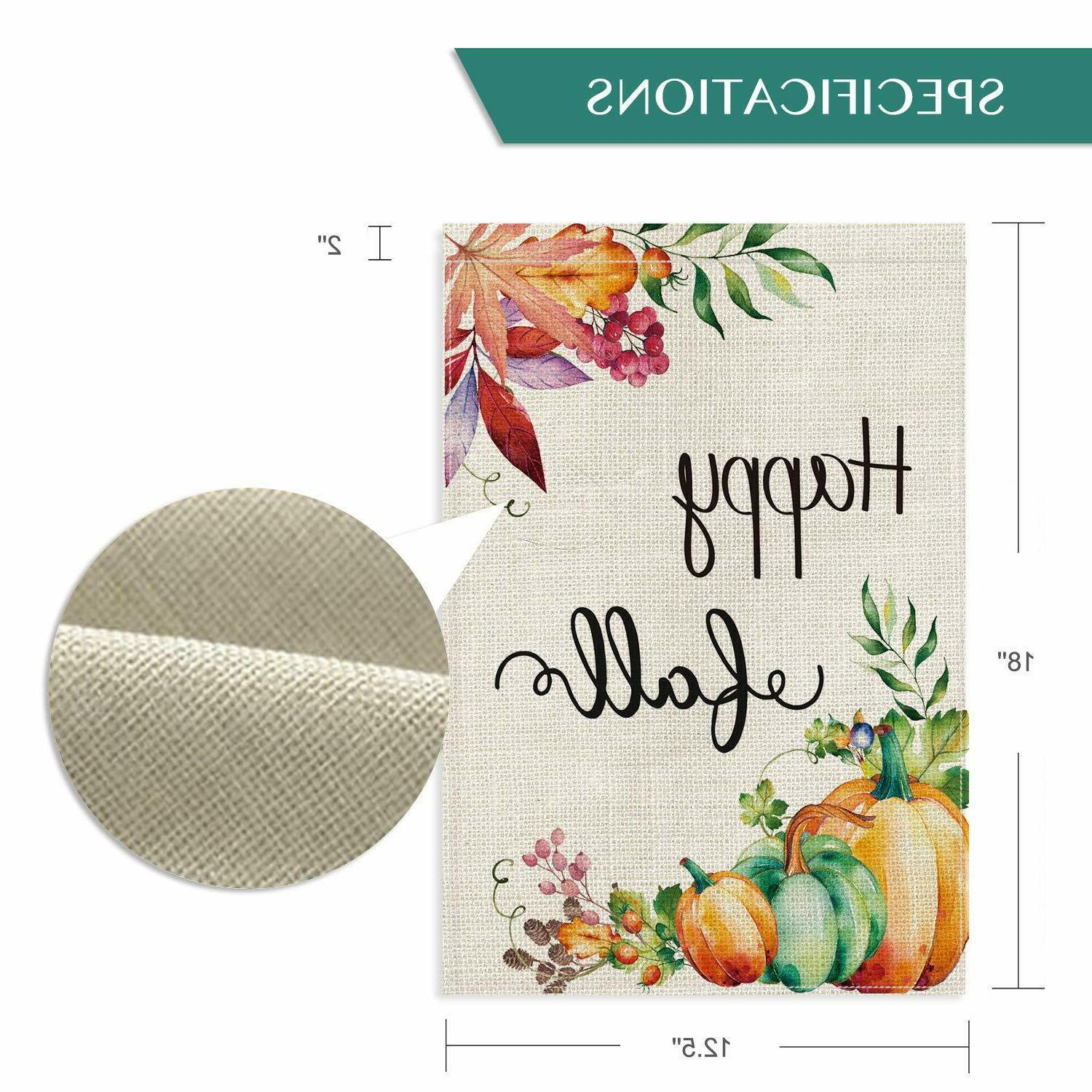 Happy Fall Garden Vertical Double Sided Outdoor Yard