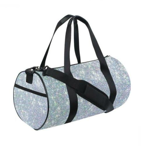 ALAZA Hipster Glitter Stars Sports Gym Duffel Bag Travel Luggage