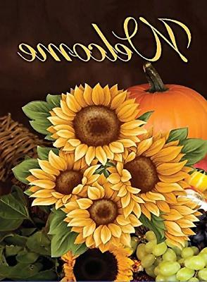 home decorative outdoor double sided fall welcome