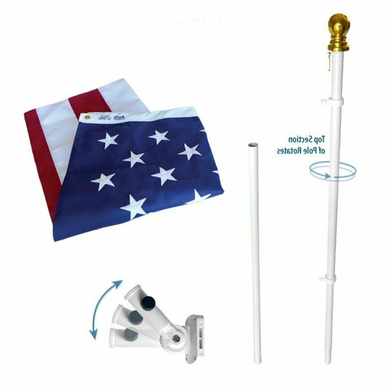 Annin Flagmakers Model 238 American Flag And Flagpole Set Es
