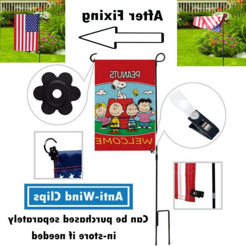 Outdoor Snoopy Spring Training Print Garden Flags