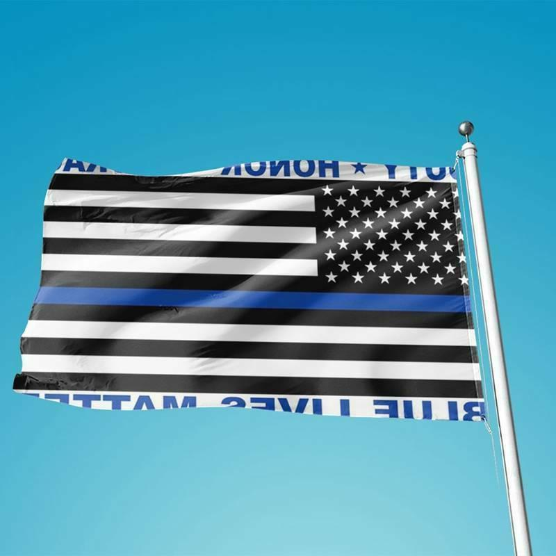 Police Matter American Flag Duty Courage LOT