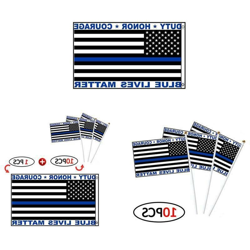 Police Blue Lives American Duty Courage USA LOT