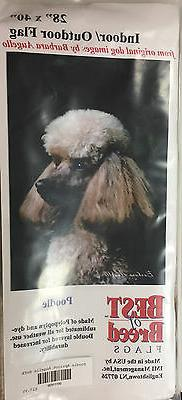Poodle Flag House Banner Best of Breed by Barbara Augello Do