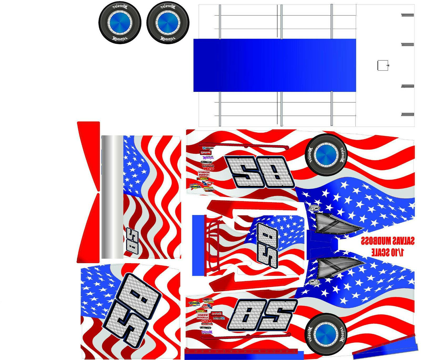 salvas mudboss slash american flag theme wrap