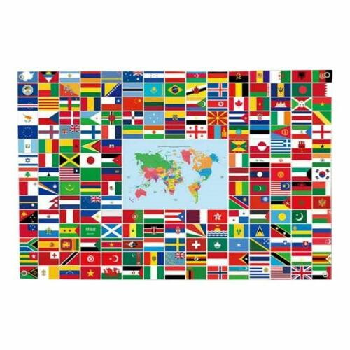 the combined world flag banner international flags