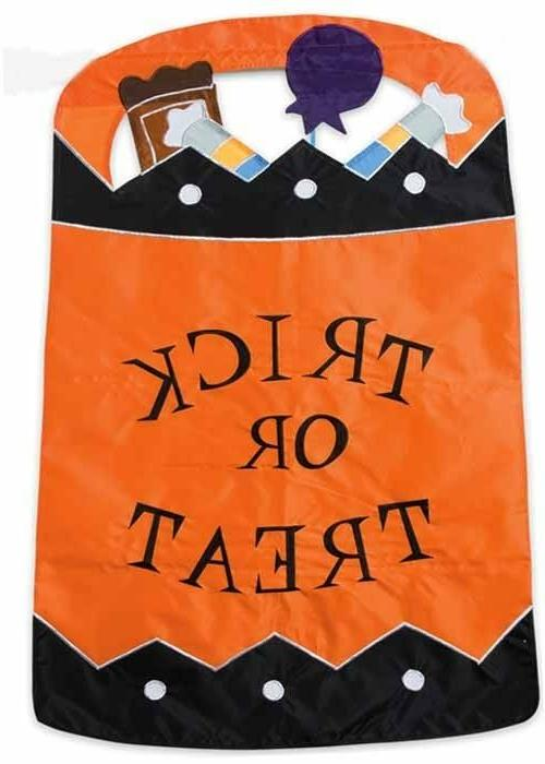 trick or treat double sided applique house