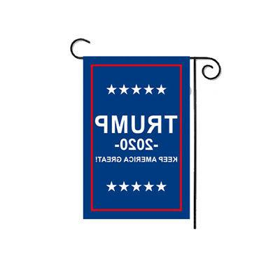 Double Sided Garden Flag Trump 2020 KEEP AMERICA GREAT Outdo