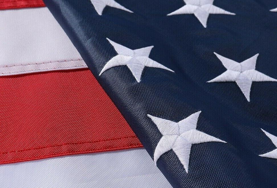 3x5ft us american flag heavy duty embroidered