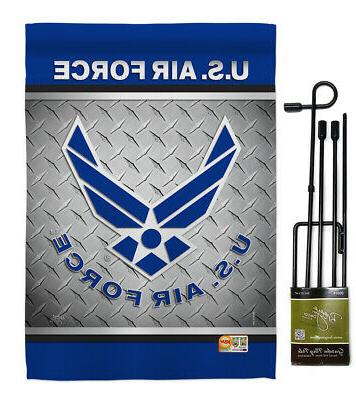 US Air Garden Armed Military Gift Yard Banner