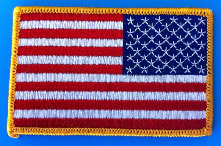 USA FLAG EMBROIDERED PATCH BORDER
