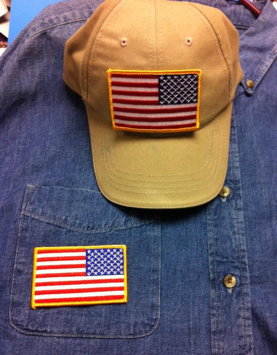 USA AMERICAN PATCH IRON-ON SEW-ON BORDER